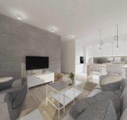 1st Project: Łódź – Narutowicza Residence – 55m2 – 3 rooms